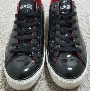 11D Converse Chucks Blk Patent